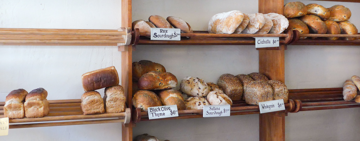 """Real Bread"": Bäckerei in Oamaru, Neuseeland"