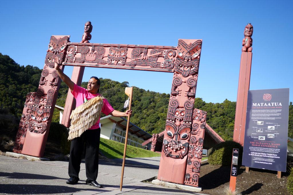 Mataatua - das Tor zum Marae in Whakatane