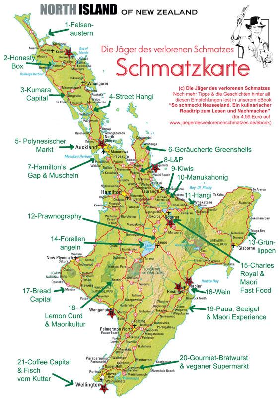 Karte Neuseeland Südinsel Zum Ausdrucken.Soeben Erschienen Die Jäger Des Verlorenen Schmatzes Schmatzkarte