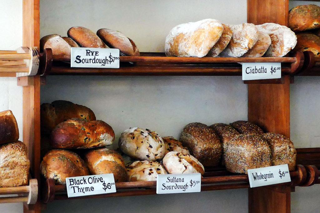 Auslage in einer Bäckerei in Oamaru