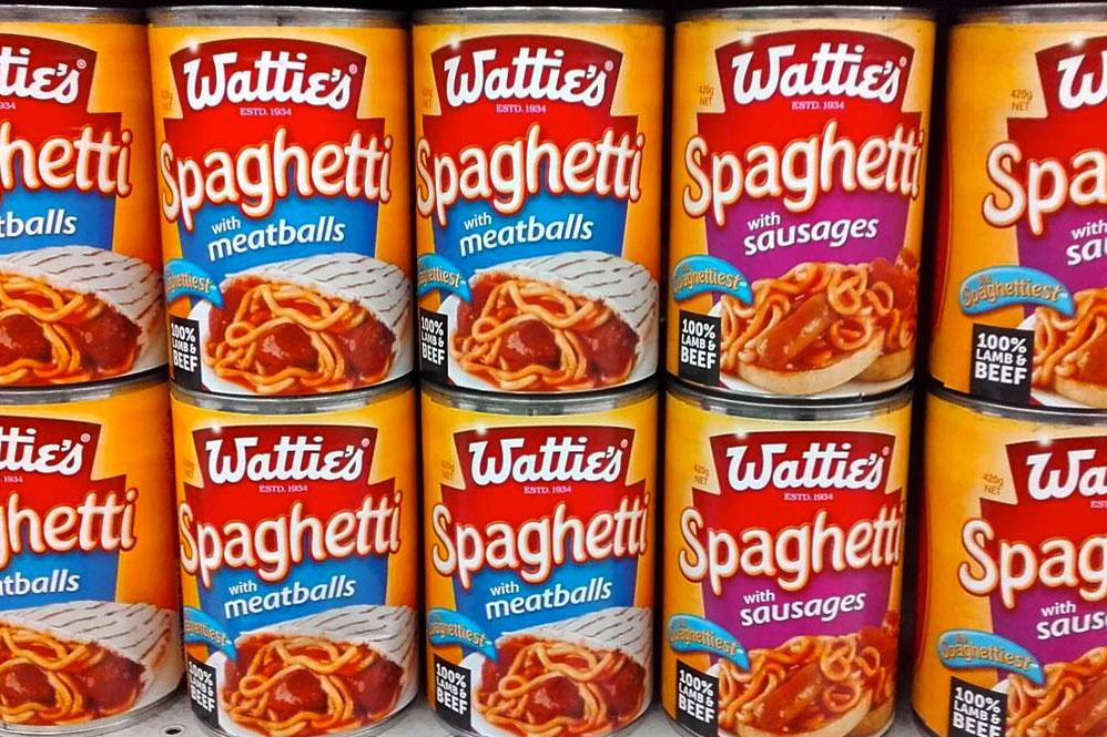 Kiwi-Klassiker: Watties Spaghetti aus der Dose