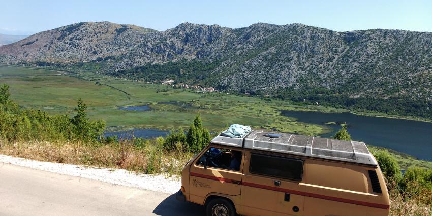 Nichts für Menschen mit Höhenangst: Panoramastraße an der kroatisch-bosnischen Grenze