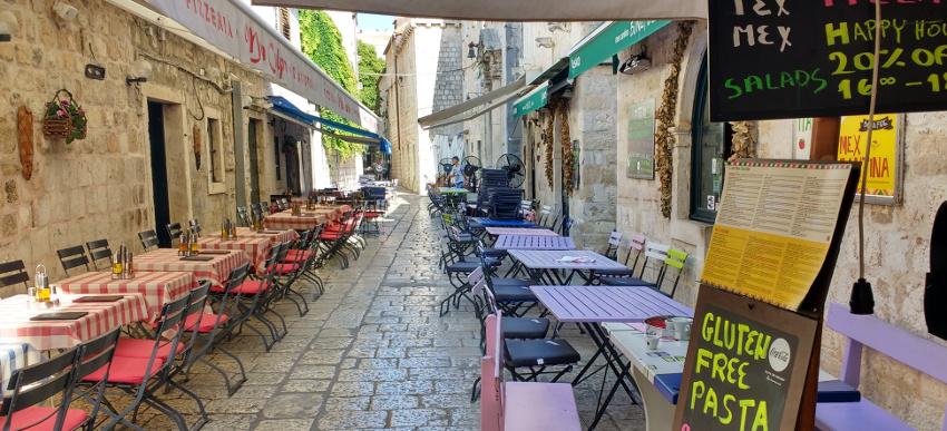 Restaurnts in der Altstadt von Dubrovnik: Pizza, Pasta, Tex Mex und Cocktail Happy Hour