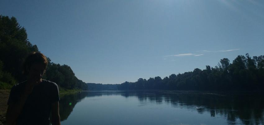 Landschaftsschutzgebiet Lonjsko Polje: Morgenstimmung am Fluss