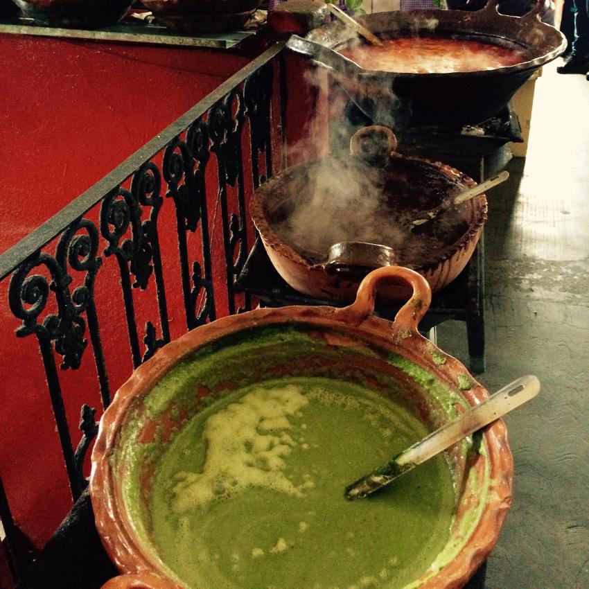 In Mexiko gibt es Mole-Saucen in allen erdenklichen Farben und Geschmäckern