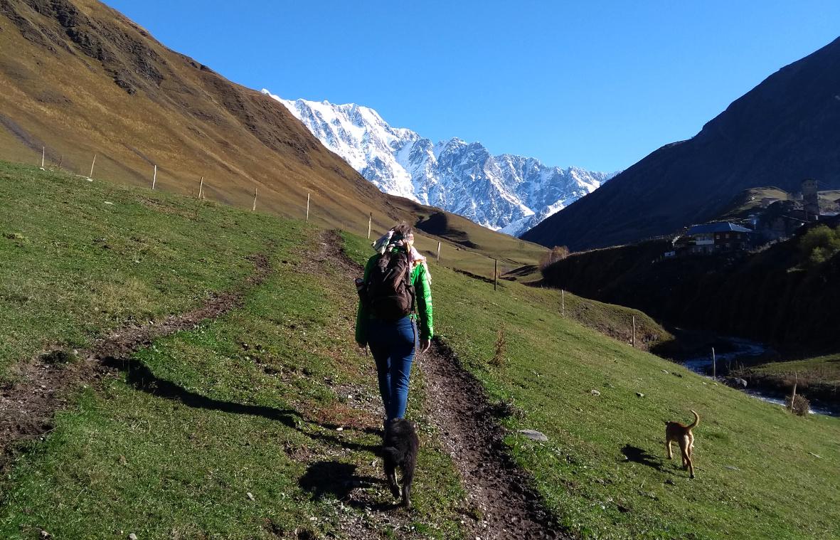 Ushguli Georgien Svanetien Wanderung Gletscher (c) www.JaegerDesVerlorenenSchmatzes.de